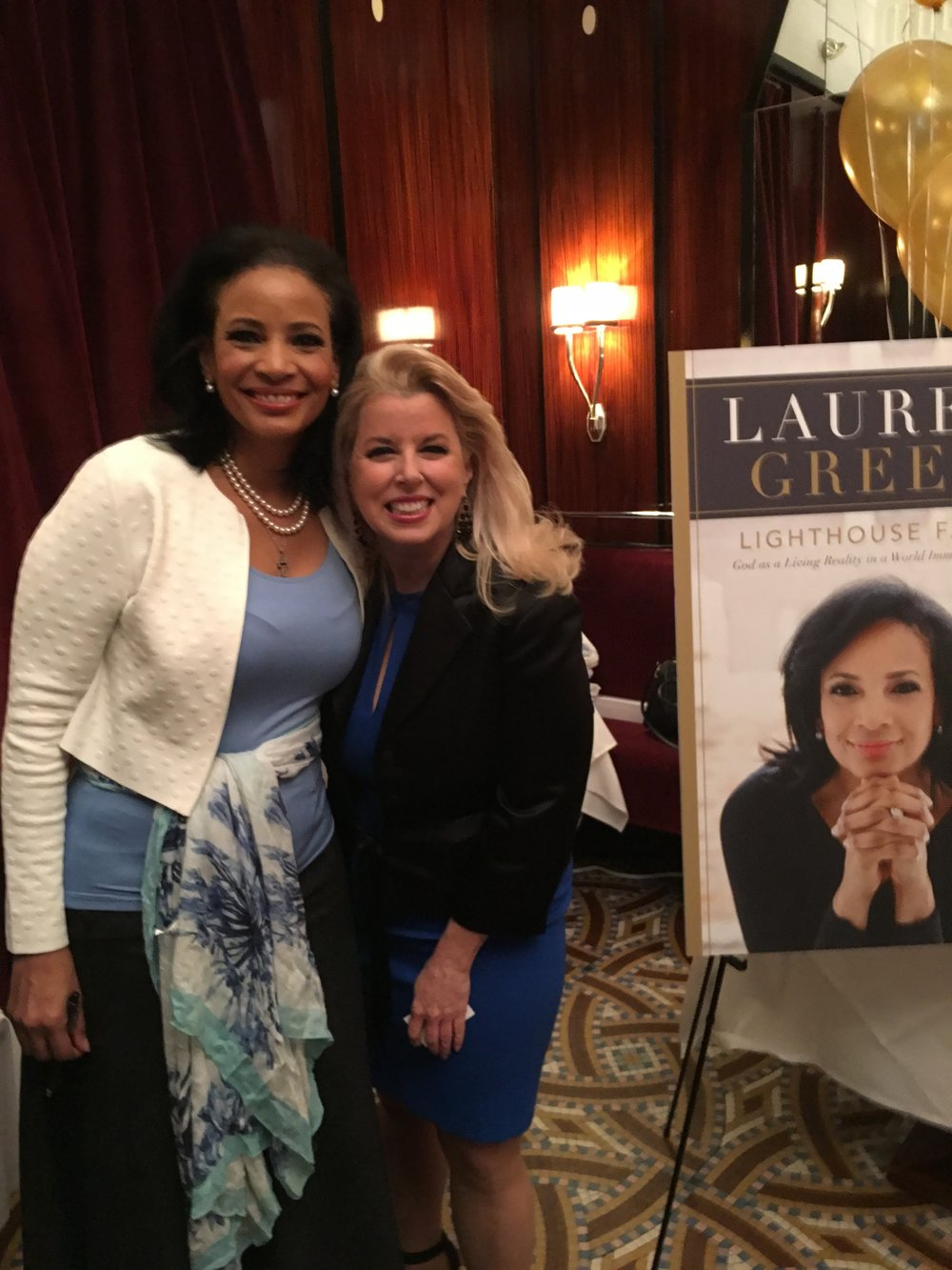 Lauren Green and WABC radio show host and author Rita Cosby.