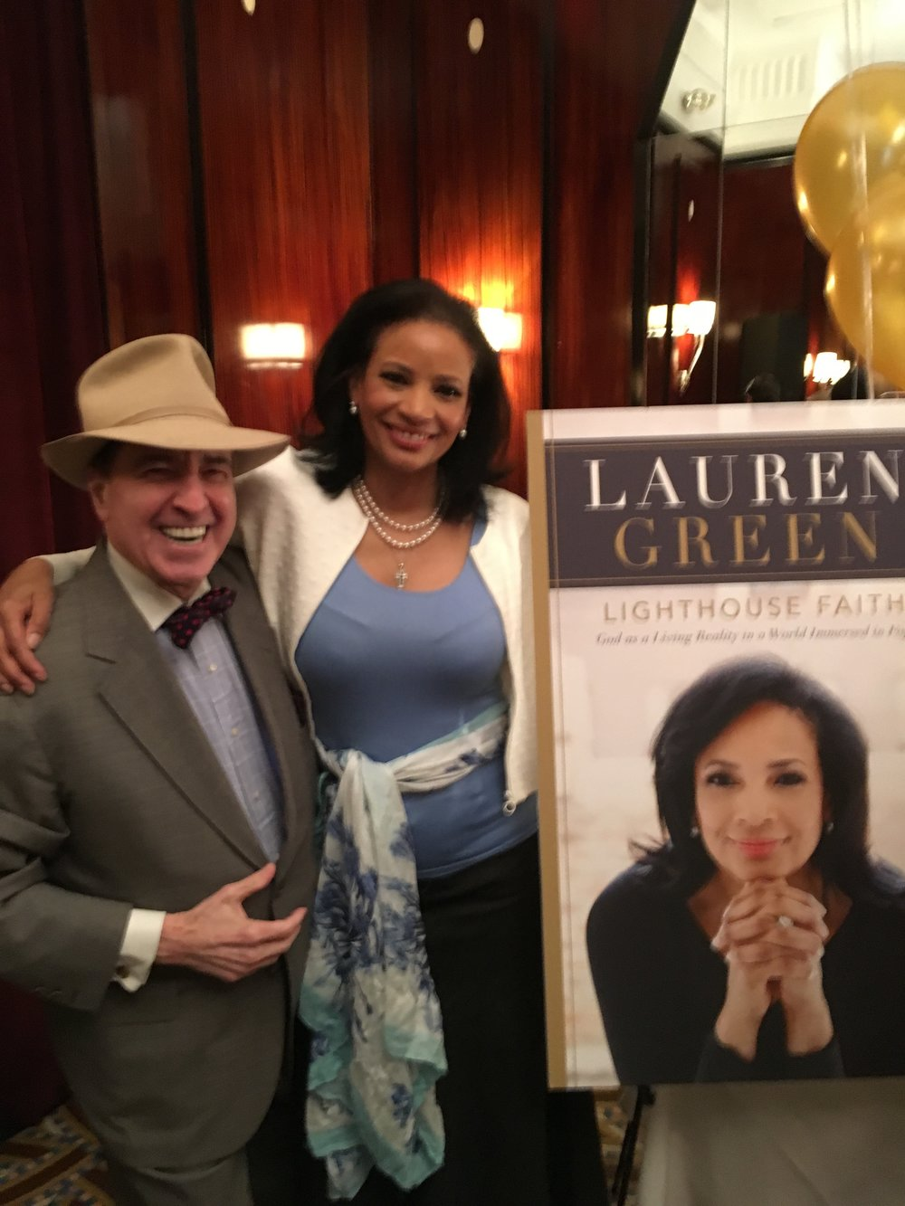 Lauren Green with her good friend John Tantillo at the Lighthouse Book Launch Party