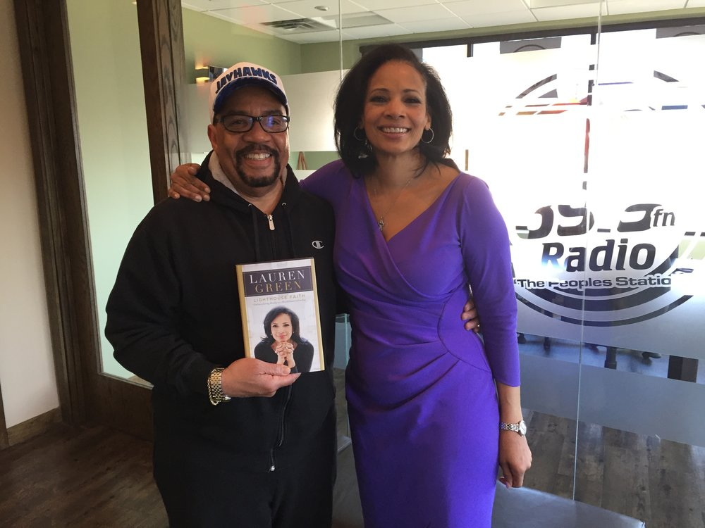 Freddie Bell and I at KMOJ radio in Minneapolis after his great interview