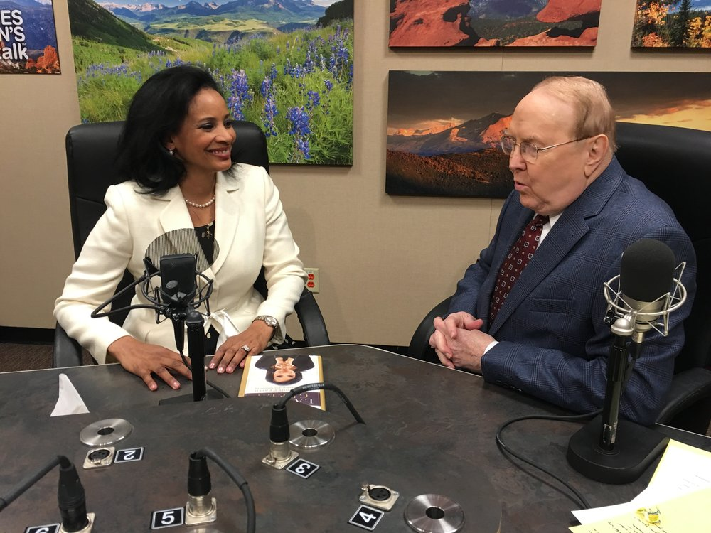 With Dr James Dobson in Colorado Springs on his Family Talk radio show