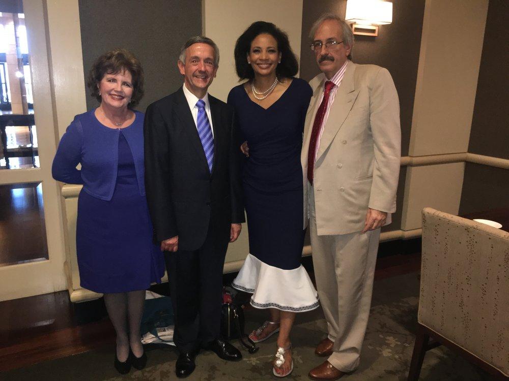 Lauren with Dr. Robert Jeffress of First Baptist Dallas.