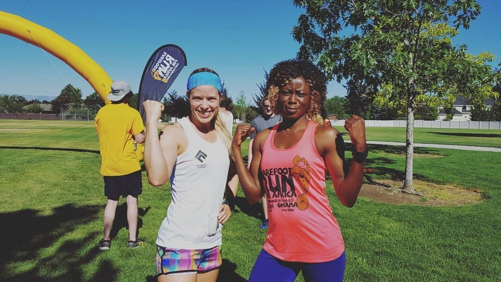 Barefoot 5k for Africa with Race Director, Ayisha Mitchell. Orem, UT 2015