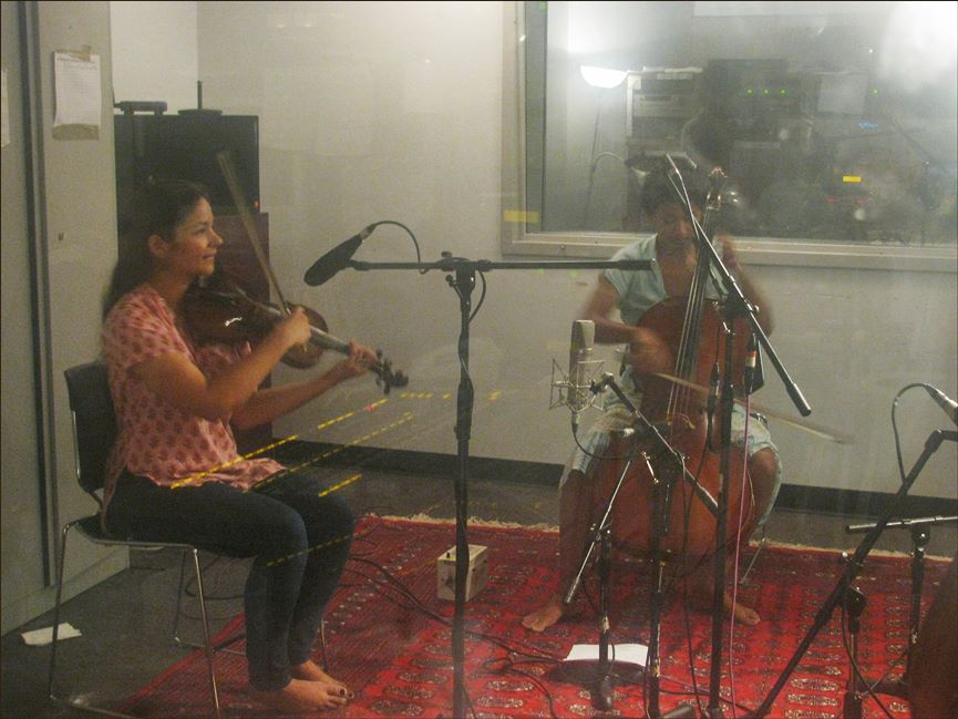 Karavika performing on Raga's Live Broadcast, WKCR Columbia University, NYC
