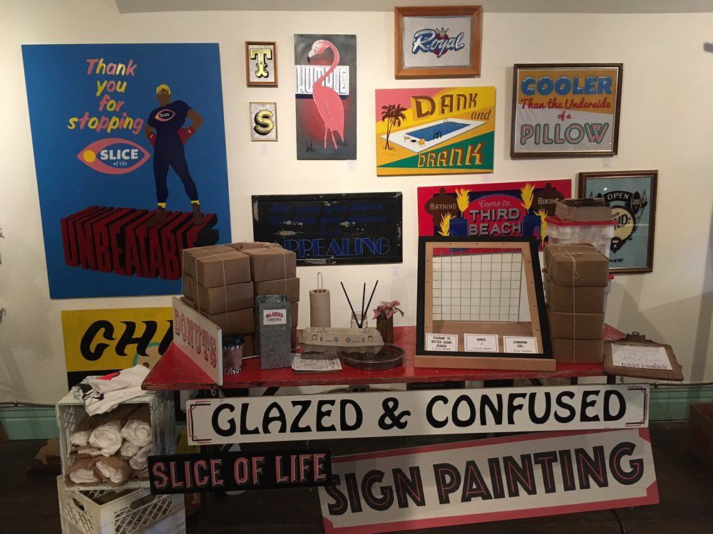 SIGN PAINTING & GLAZED and CONFUSED MARKET DISPLAY - CONTACT FOR SALES