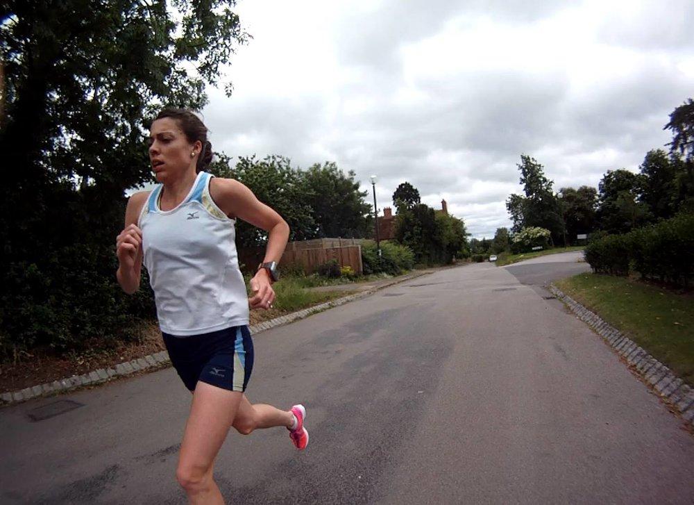 Emily training in Milton Keynes, England.