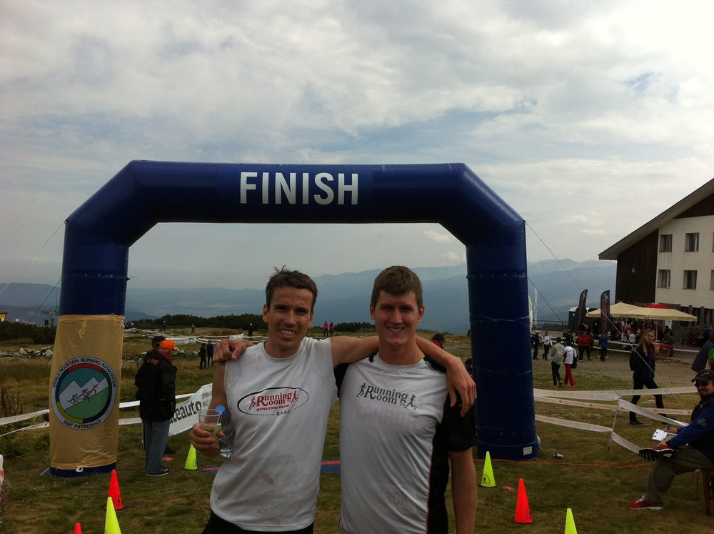 Kris Swanson and I after the race.