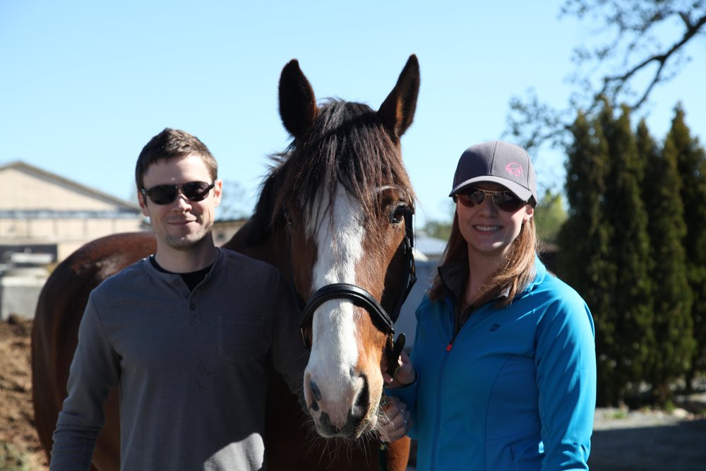 Matt Clout, George and Sarah Clout at Southlands Riding Club
