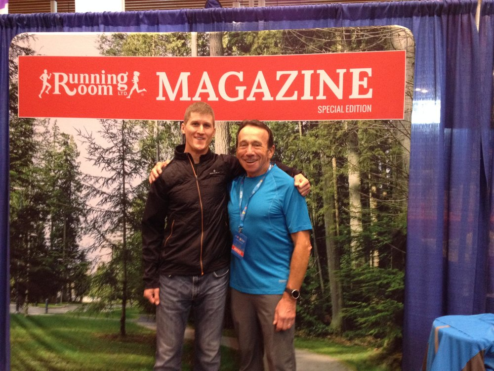 Matt Setlack and John Stanton at BMO Vancouver Marathon Expo