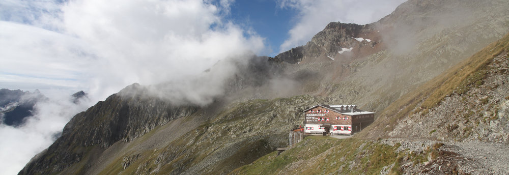 1st Mountain Hut we came across (Innsbrucker Hut) on Day 1 of 2013 Stubaier Hohenweg