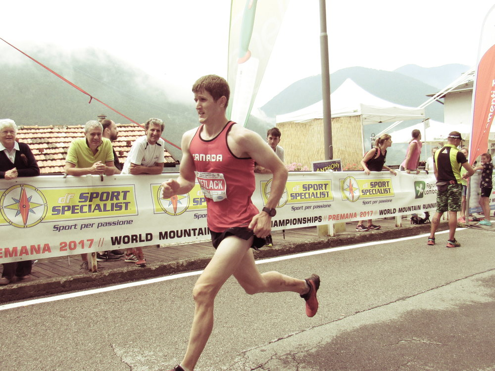Matt Setlack finishing the Long Course World Mountain Running Championships (PC: Abigail Smith).