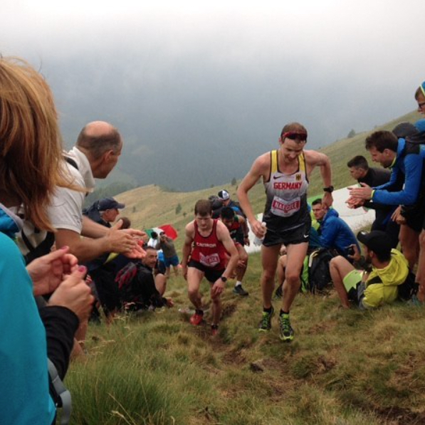 Almost at the col/top of mountain 2 (PC: Aaron). Only about 2 people in the entire race ran all the way up this hill.