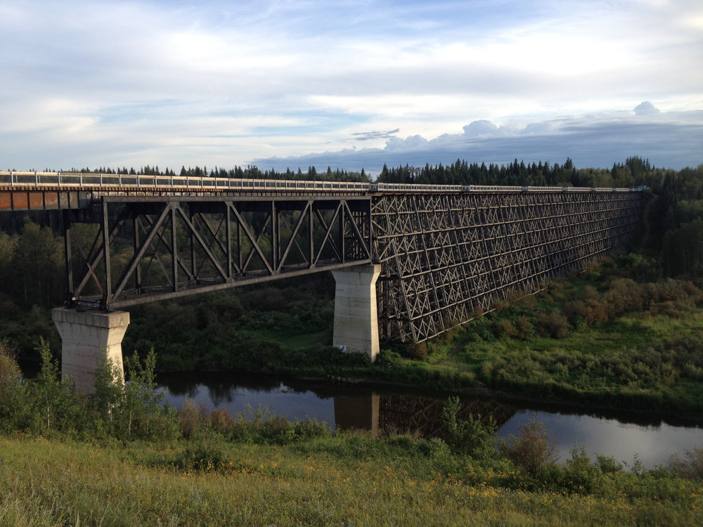 Train Trestle Bridge crossing over Beaver River