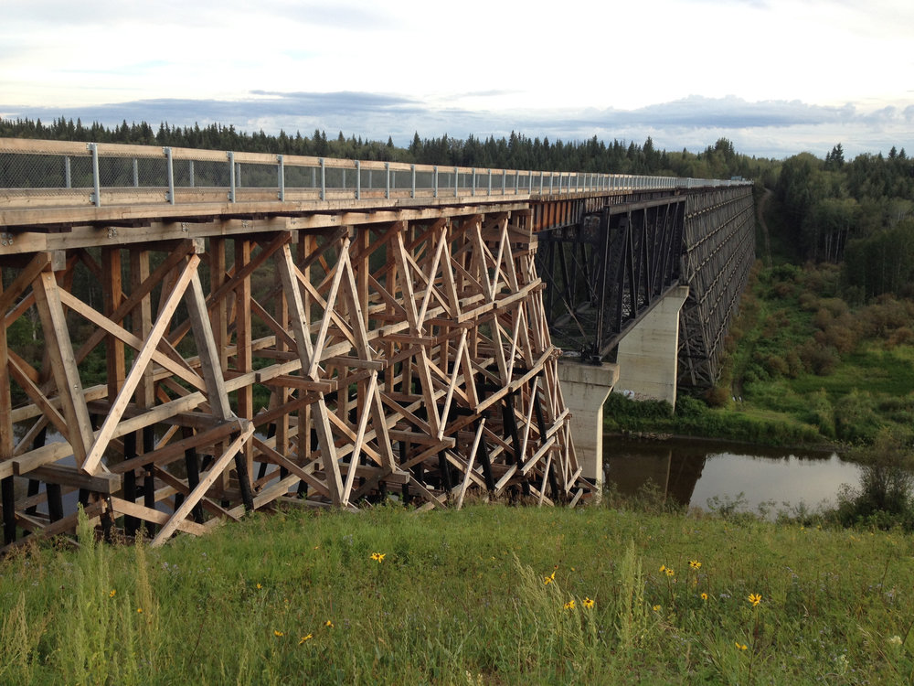 Old Train Bridge crossing over Beaver River