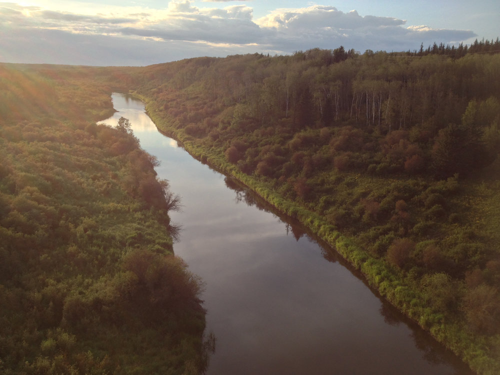 View of Beaver River from the top of the bridge