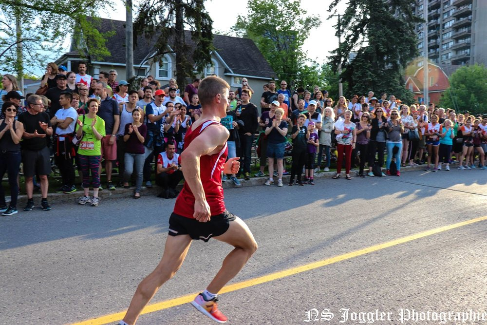Just before the finish line. Photo by Michael-Lucien Bergeron