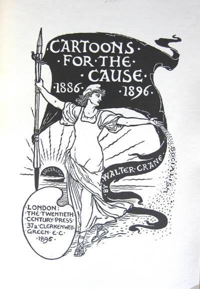 Walter Crane (1896) Cover for  Cartoons for the Cause