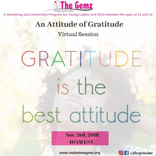 We are looking forward to our Gratitude session with our girls.