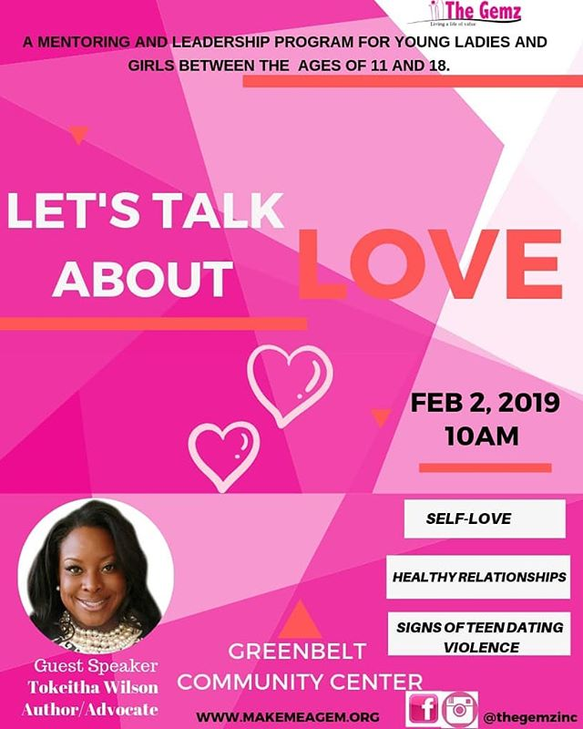 Let's talk about LOVE with our girls. Self-love, Healthy relationships and loving others. ▫️ It's no new news that there's an increase in females being victims of abuse. Let's continue to empower and educate our girls with the information and resources they need to be protected. ▫️ In honor of the 'Love month💗💗' We are excited to have Ms @tokeithak as our guest speaker as she educates her girls on the signs of teen dating violence and abuse. ▫️ We look forward to an impactful day.