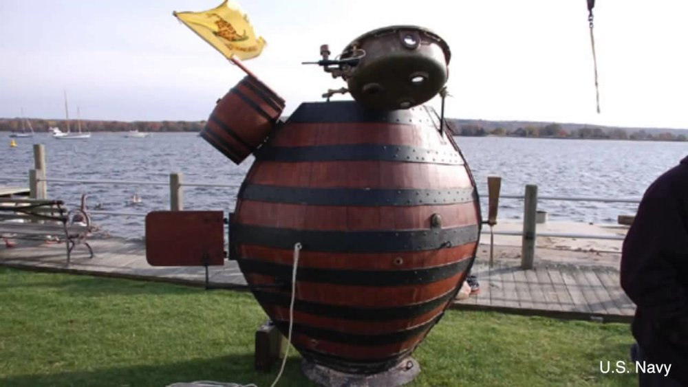 """David Bushnell's """"Turtle"""" submarine reconstructed. Click to see video."""