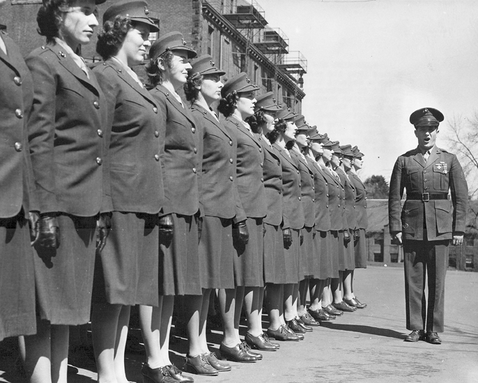 The first group of 71 Women Marine Officer Candidates arrived 13 March 1943 at the U.S. Midshipmen School (Women's Reserve) at Mount Holyoke College in South Hadley,Massachusetts. The Navy's willingness to share training facilities enabled the Marine Corps to begin training Marine Corps Women's Reserve officers just one month after the creation of the MCWR was announced.