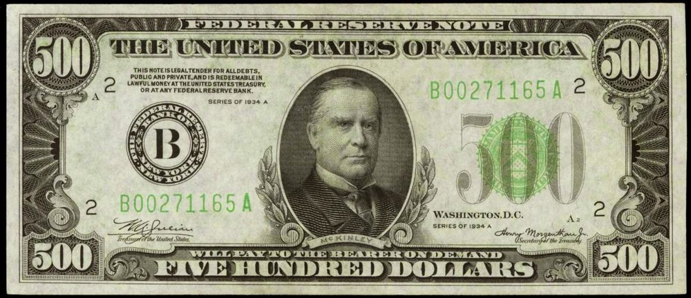 1934 500 Dollar Federal Reserve Note.JPG
