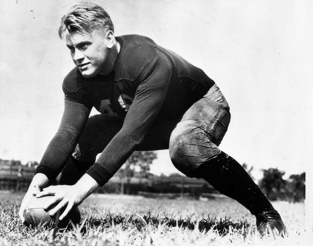 Gerald Ford Playing Football