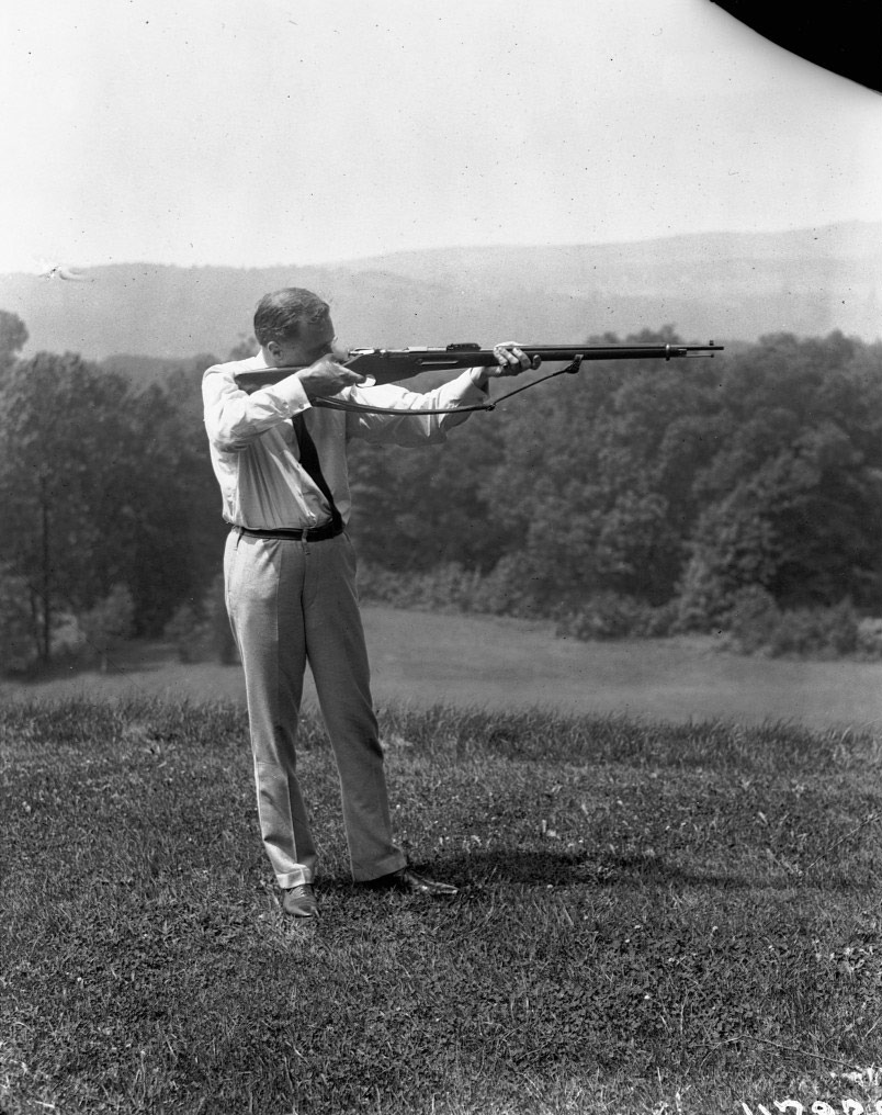 "Photo Credit:   NY Mag   - ""The Most and Least Impressive Photos of Presidents Holding Guns"" - Pictured Above: Franklin D. Roosevelt."