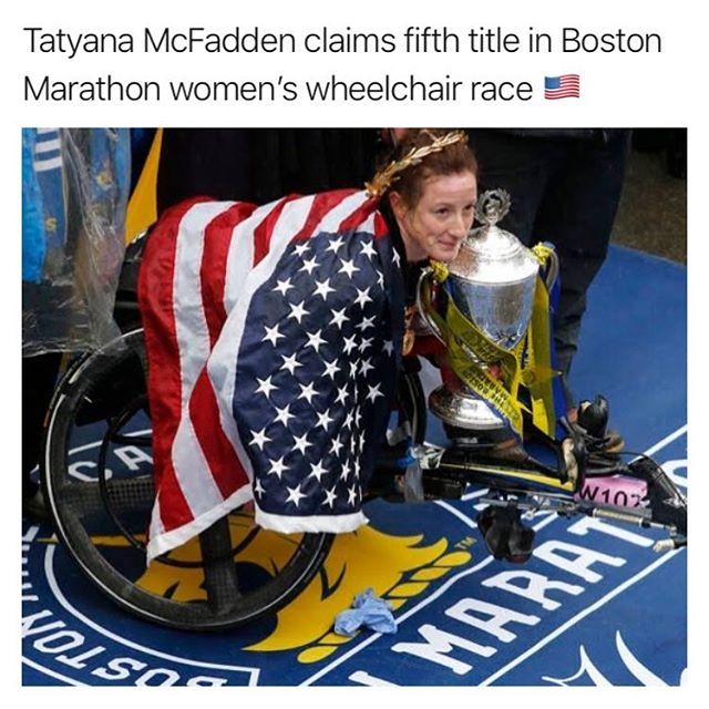 @tatyanamcfaddenusa also brings it home for the US in the women's wheelchair division today 🇺🇸