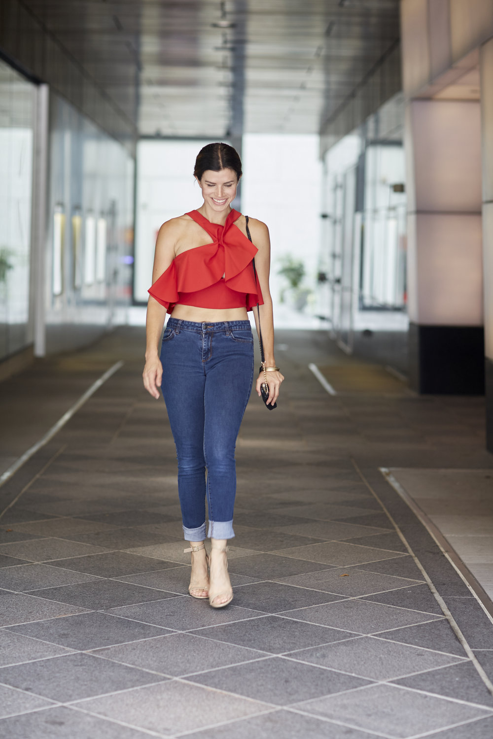 kendall kylie crop top red