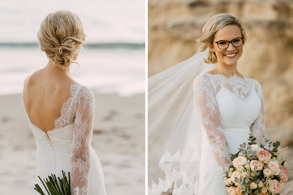 Elopement hair and makeup adelaide