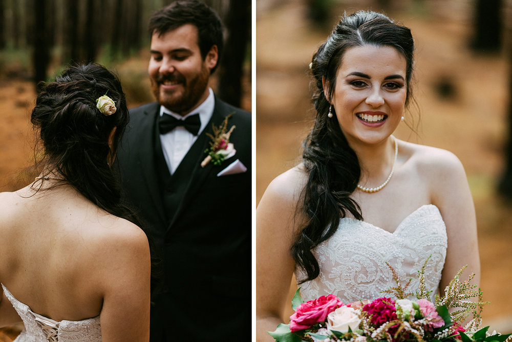 Adelaide elopement makeup and hair