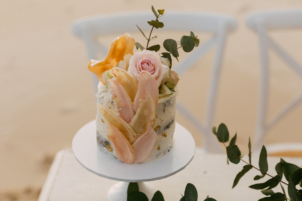 Elopement Wedding cake Adelaide