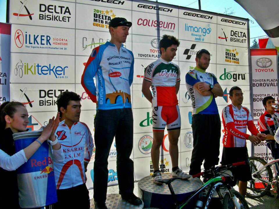 On the podium in Turkey.