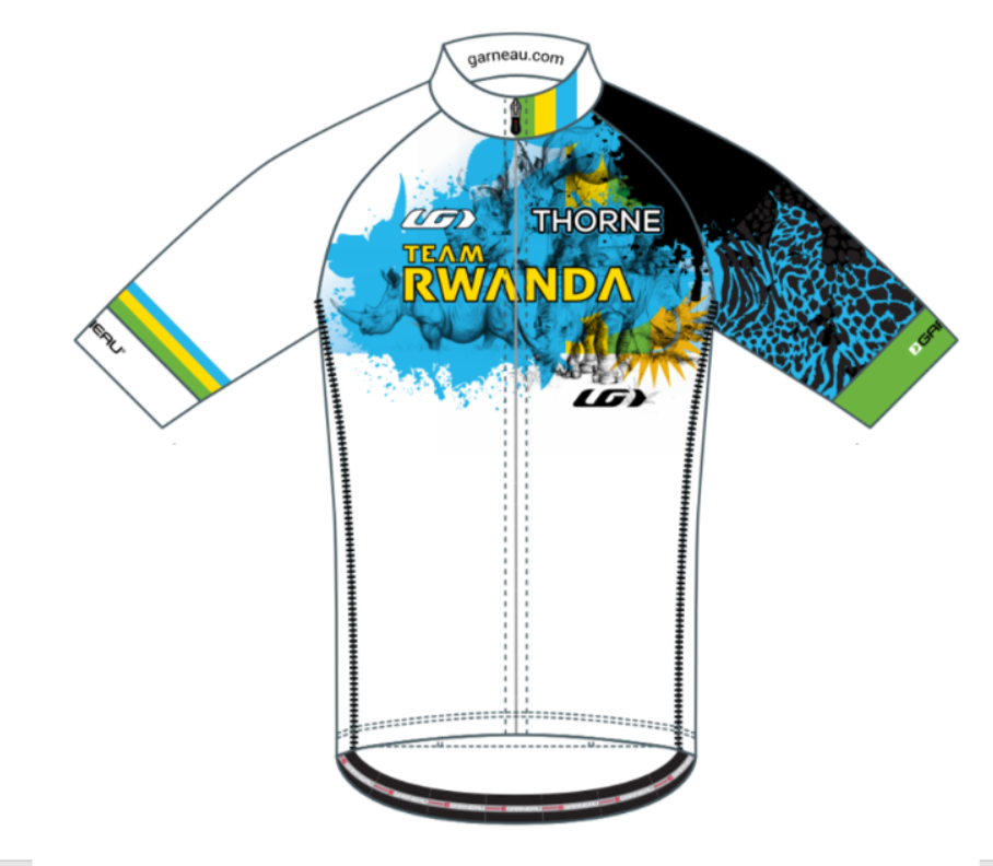 Team Rwanda's Colorado Classic Jersey - Note Rhinos