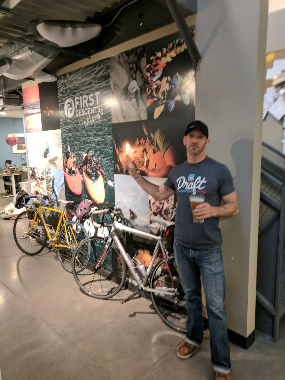 Ryan at First Descents HQ