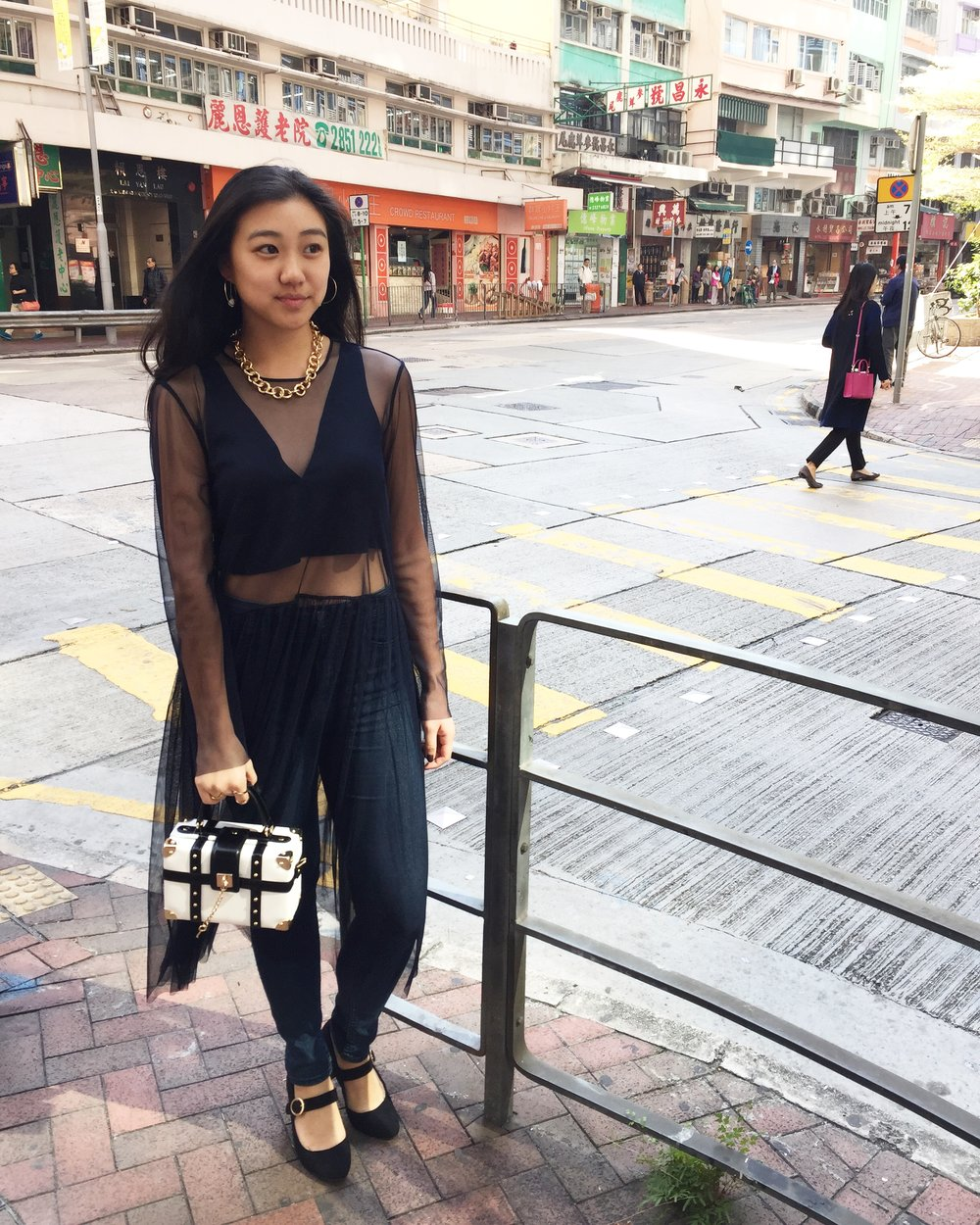 Hong Kong Central District   Sheer tunic from  Zara