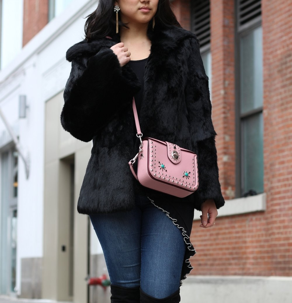 Coat: vintage but I've linked one  here  (and a more affordable version  here ) | Bag:  Coach Page Crossbody  | Jeans:  H&M