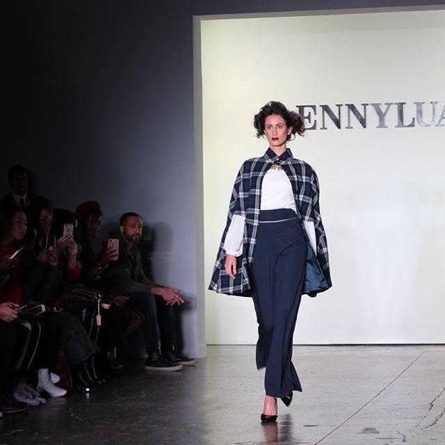 Minimalistic elegance at the @ennyluap FW18 show ◽️◽️◽️#NYFW