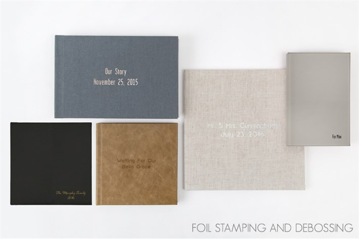 Text on cover... - these gorgeous albums have a varity of different materials for the cover. Compleate the look by adding some thoughtful words.