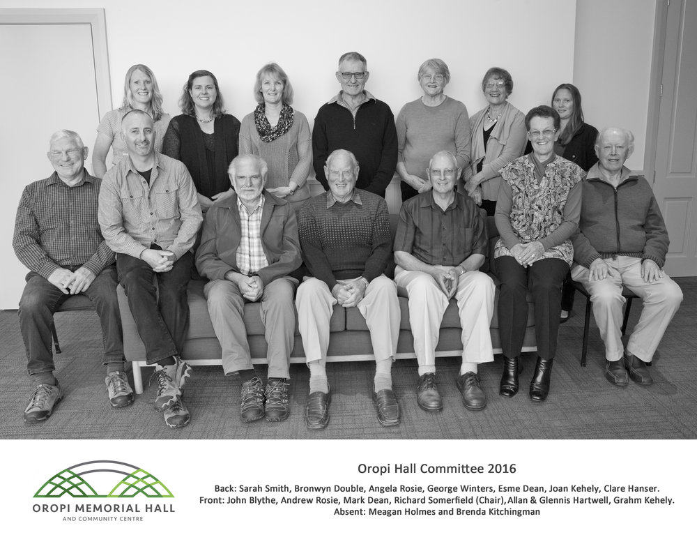 2016 Oropi Hall Committee