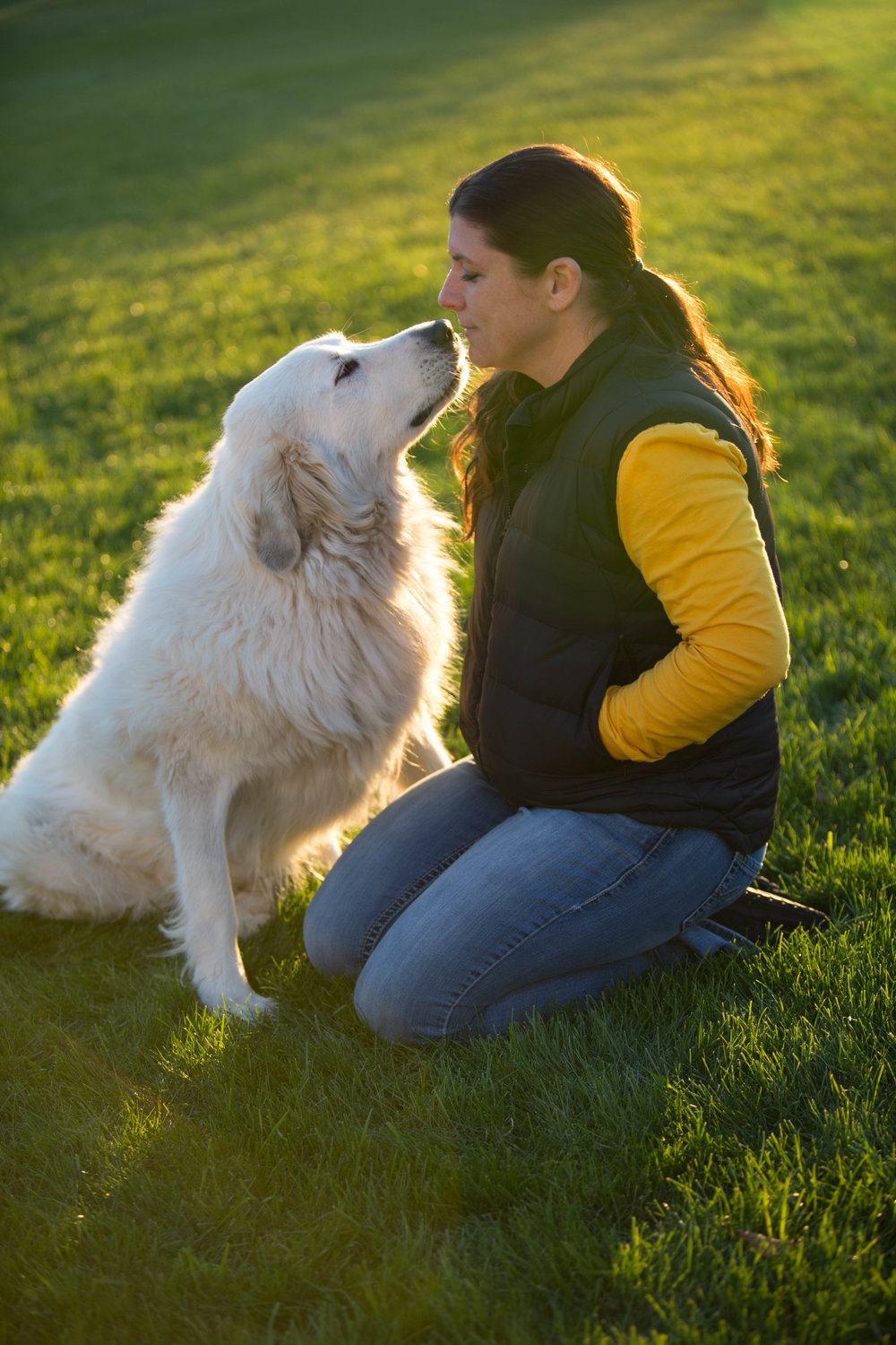Deb & one of her four fur kids, Daphne (Great Pyrenees)