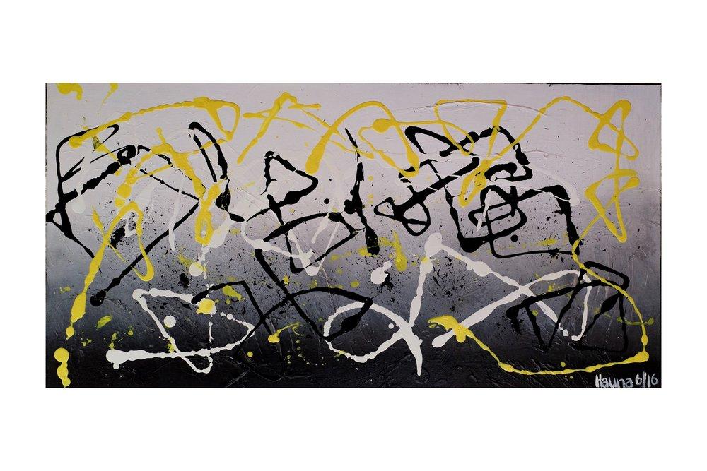 """18""""x36"""" acrylic on canvas"""