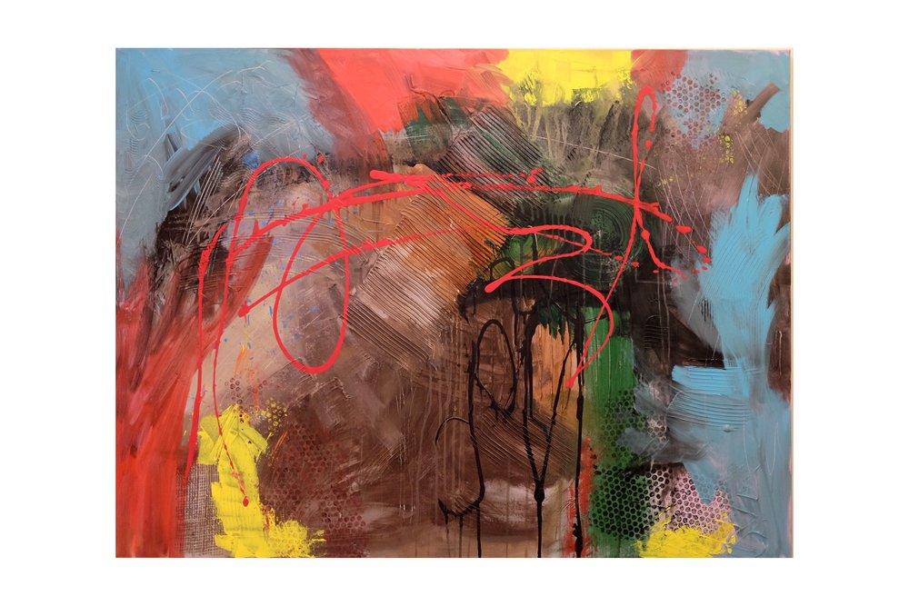 """36""""x48"""" acrylic on canvas"""