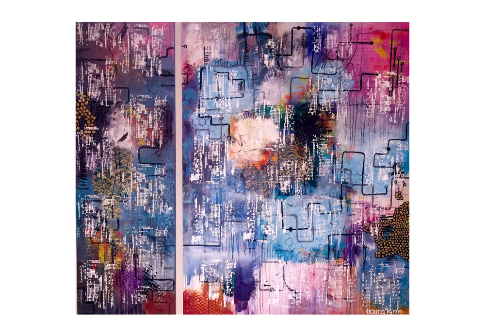 "60""x68"" acrylic on canvas - 2 panels"