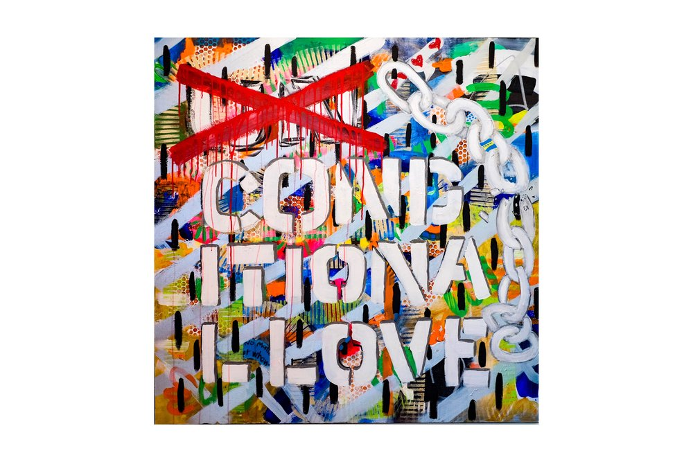 """Unconditional Love"" - 48""x48"" acrylic on canvas"