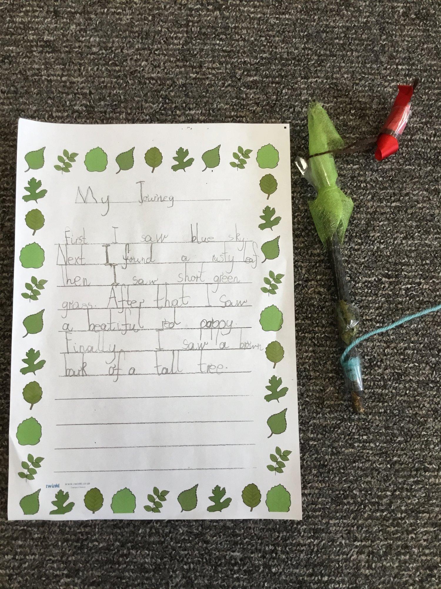 Science Week Journey Sticks — White Laith Primary School