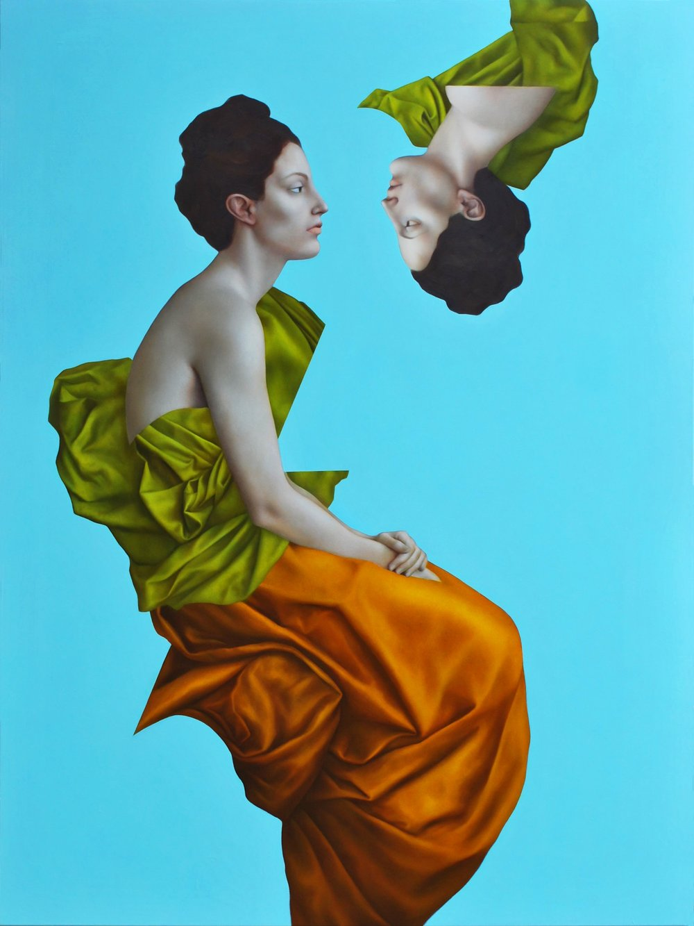 Phoebe Blue, oil on canvas, 160x120cm, 2015