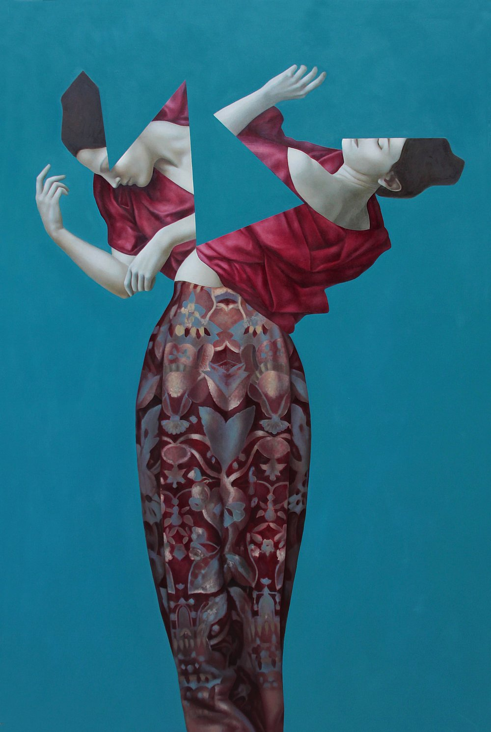 Mercurius Blue, oil on canvas, 180x120cm, 2015