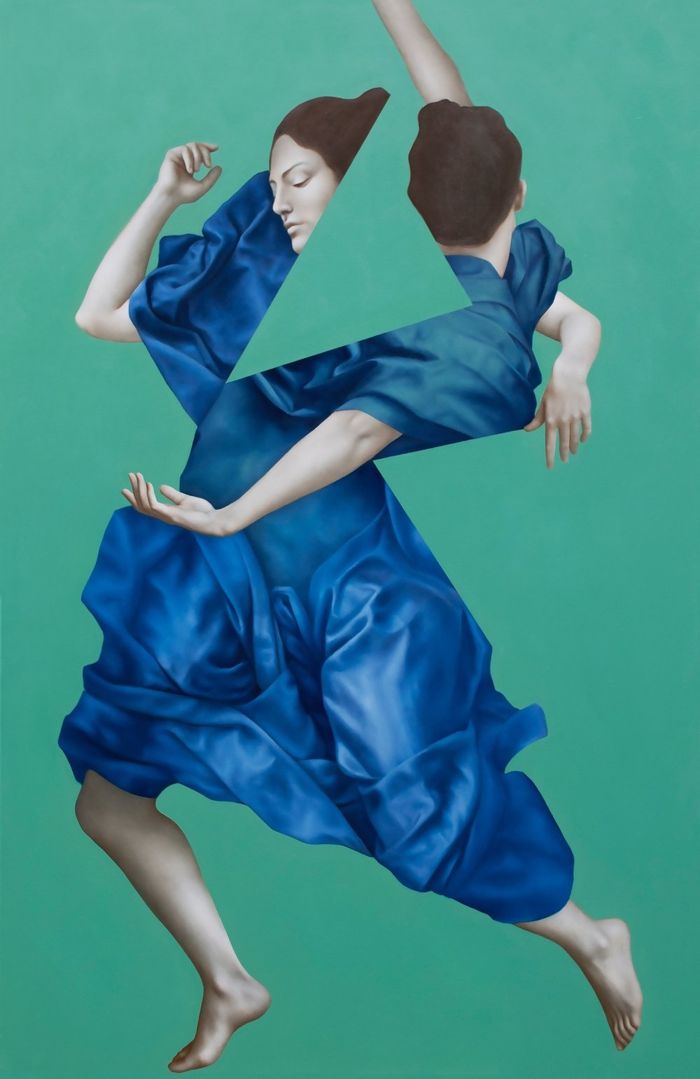 Hekate Green, oil on canvas, 170x110cm, 2016