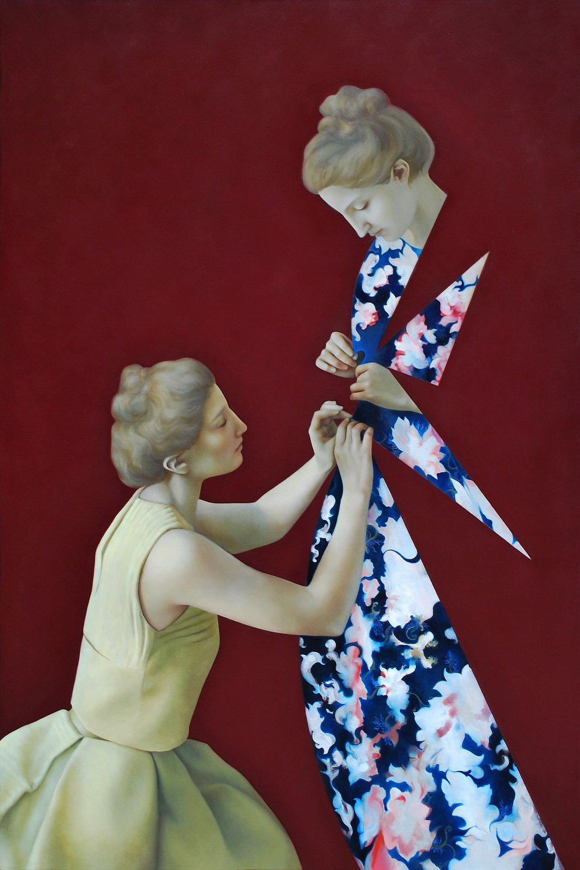 Hestia Red, oil on canvas, 180 x 120 cm, 2015